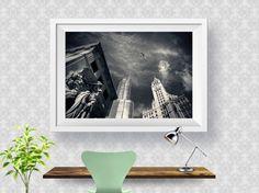Los Angeles Skyline Black White Print, Abstract Art Print, Home Decor, Modern Decor, Wall Art, Poster Print, Printable Instant download
