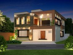 3d front elevation: beautiful home & house in pakistan india
