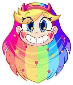 It was high time I made some Star VS fanart and pride month has me thinking about rainbows, so I came up with this design today. Had a lot of fun with this one. :'D Now available on my Redbubble! Starco, Cartoon Shows, Cartoon Art, Dessin Animé Lolirock, Desenhos Cartoon Network, Star Y Marco, Desenhos Gravity Falls, Princess Star, Star Force