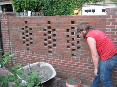 Pigeon hole wall my husband built