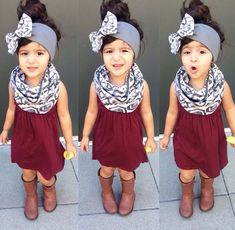 awesome Scarf, headband, boots.... by http://www.polyvorebydana.us/little-girl-fashion/scarf-headband-boots/