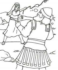 david and goliath coloring pages | David Goliath coloring page | Super Coloring