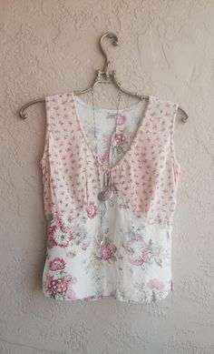 Vintage rose print camisole with patchwork prints