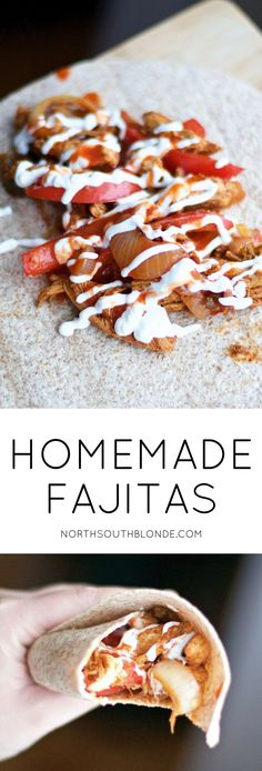 These homemade fajitas will satisfy your Mexican food craving while saving you money at the same time. A healthy alternative to buying a prepackaged seasoning mix, an easy and delicious dinner in 20 minutes! Easy dinner recipe | Healthy | Mexican dish | Gluten-Free Dinner | Spicy | From Scratch | Paleo | Whole 30 | Fajita Seasoning | Chicken Fajitas | Wraps | One Pan | Wholesome | Family Friendly | Dinner Ideas | Mexican Dinner |