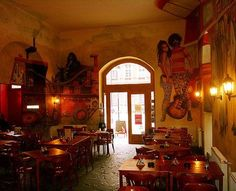 Frank Zappa cafe, Budapest Hungary.... how cool is this?!