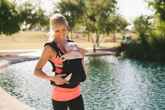 Baby wearing workout