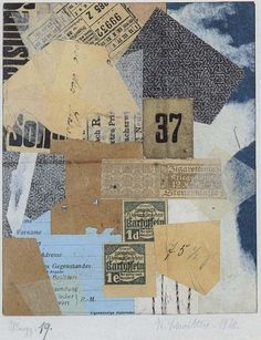 Picasso and Collage Georges Braque Kurt Schwitters, Dada, and Merz John Heartfield Hannah Hoch Marcel Duchamp Joseph Corne. Kurt Schwitters, Photomontage, Collage Kunst, Dada Collage, Word Collage, Collage Ideas, Francis Picabia, Robert Rauschenberg, Mixed Media Collage