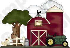FARM BARNYARD ANIMALS TRACTOR HORSE NURSERY CHILDRENS WALL MURAL STICKERS DECALS