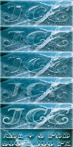 Free Ice clear Photoshop Styles ASL   6 PSD - Free download