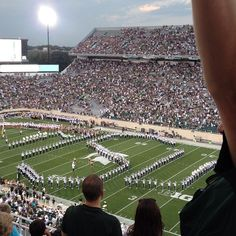 Being a former band geek myself, all I have to say I MSUs marching band is AWESOME!! #spartans #msu #msuspartans #collegefootball #football #band #marchingband #gogreen #Padgram