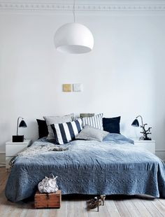 Best Modern Blue Bedroom for Your Home - bedroom design inspiration - bedroom design styles - bedroom furniture ideas - A modern style for your bedroom could be just accomplished with vibrant blue wallpaper in an abstract style and also formed bedlinen Bedroom Decor, Bedroom Interior, Home, Interior, Bedroom Inspirations, Home Bedroom, Remodel Bedroom, Home Decor, Room