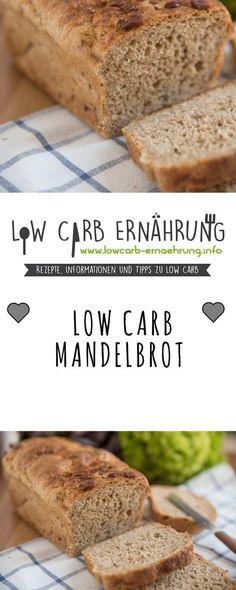 Low Carb Rezept für leckeres, kohlenhydratarmes Mandelbrot. Low Carb und einfach und schnell zum Nachbacken. Perfekt zum Abnehmen.