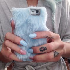 Savannah with the @skinnydiplondon Furry Up iPhone 5 Case in Blue #furry || Get the phone case: http://www.nastygal.com/home/skinnydip-london-furry-up-iphone-5-case--blue?utm_source=pinterest&utm_medium=smm&utm_term=ngdib&utm_content=clothing_optional&utm_campaign=pinterest_nastygal