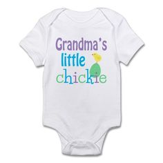 Grandma's Little Chickie Body Suit - Adorable onesie for your little chick for Easter and spring! More styles and colors available.