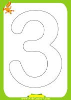 Kids Under 7: Number Coloring Pages (1-10)