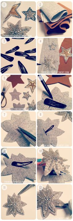 DIY: Sparkly Star clips made from appliques!