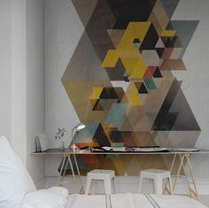 A favorite wallpaper from Rebel Walls, Fractal! #rebelwalls #wallpaper #wallmurals