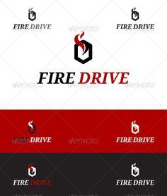 Fire Drive - Letters Logo Templates