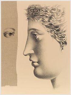 'E' soltanto questione di occhio' (It's only a question of the eye) (1997) by Italian artist Carlo Maria Mariani (b.1931). Lithograph, edition of 50, 76 x 56 cm. via stamperia carini