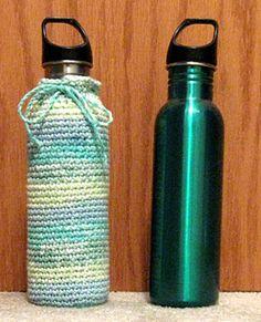 water bottle cozy - free pattern