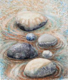 River Rock 2 Fine Art Print - Valerie Meotti