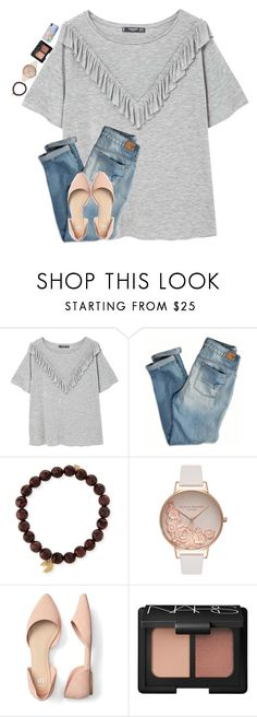 """""""•life update•"""" by mackenzielacy814 on Polyvore featuring MANGO, American Eagle Outfitters, Sydney Evan, Olivia Burton and NARS Cosmetics"""