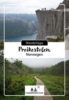 Die Wanderung zum Preikestolen belohnt euch mit einem unvergesslichem Ausblick und zählt deshalb zu den beliebtesten Wanderungen in Norwegen. Mountains, Nature, Travel, Hiking, Naturaleza, Viajes, Destinations, Traveling, Trips