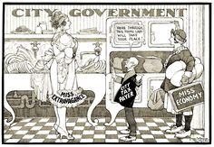 "Winsor McCay editorial cartoon ""City Government"""