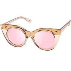 8007f94bc72 Le Specs Luxe Nefertiti Two-Tone Cat-Eye Sunglasses