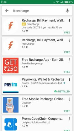 FreeCharge App For Android, iOS, Windows Phone