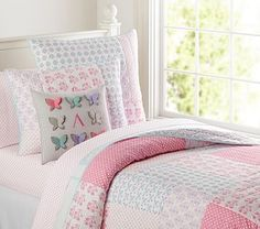 Ava Quilted Bedding #pbkids