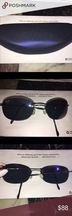 Authentic Maui jim sunglasses Small framed authentic black Maui Jim sport sunglasses barely worn like new condition comes with sunglasses case Available in brown as well in my closet MJ sport Maui Jim Accessories Sunglasses