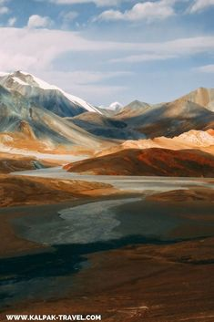 Pamir Highway goes through incredible mountainous landscapes
