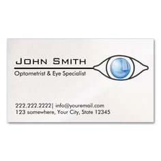 Optometrist business cards business cards and business blue eye optometrist and eye care business card this is a fully customizable business card and available on several paper types for your needs colourmoves