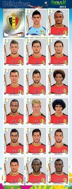 PANINI - Equipo - Bélgica - Mundial Brasil 2014