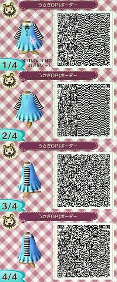 :D I'd wear something like this!!! If only I had moneys... #AnimalCrossing #NewLeaf #QRCodes
