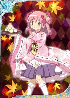 Madoka short kimono Madoka Magica Mobage Cards