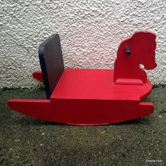 Vintage Rocking Horse Red Rocking Horse – Buy classic toys from Cherrie Hub, #vintage shop based in Cornwall!
