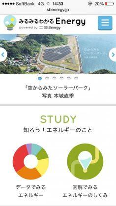 iPhone Webデザイン みるみるわかるEnergy|自然エネルギー情報|SBエナジー
