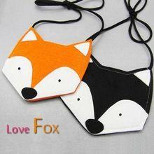 Nouvelle arrivée filles fox sacs à main mode mini coupe Kawai animal renard bébé garçons messager sacs de bébé occasionnels belle bourse(China (Mainland))