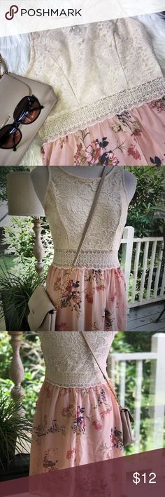 🌸Rue 21 Lace Floral Chiffon Dress This is Gorgeous!!! Super cute ; pictures say it all 🌺 Rue21 Dresses