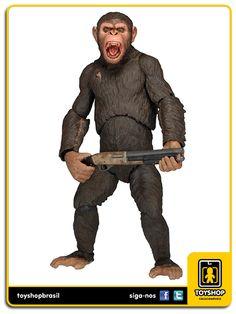 Dawn of The Planet Of The Apes: Caesar - Neca, caesar, dawn of the planet of the apes, neca, toy, colecionáveis, figuras de ação, action figures, bonecos, miniaturas, comprar neca