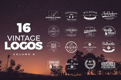 Vintage Logos and Badges Set 6 by Zeppelin Graphics on @creativemarket