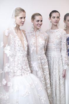 Naeem Khan Bridal Spring 2017. / Wedding Style Inspiration / LANE Lace wedding dresses