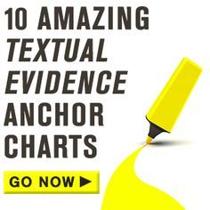 10 anchor charts will reinforce your students' skills when it comes to finding and using textual evidence.