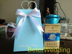 60 stuks sutlang pino blauw thema bruiloft snoepzak BETER-th021/b   de doos van het huwelijkssuikergoed http://www.aliexpress.com/store/512567