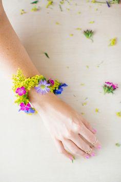 DIY Geometric Flower Bracelet Tutorial