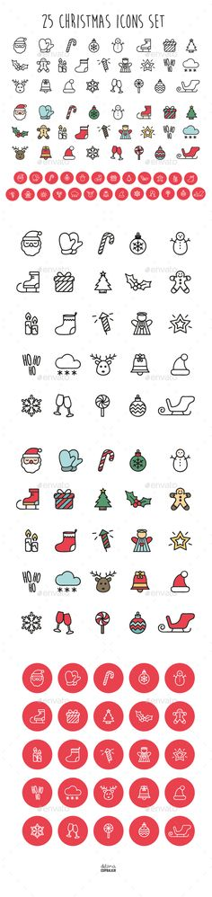 Christmas Icons by dilaraedipbalkir Fully layered & well organized 0 vector File includes: AI and EPS Vectors in adobe illustrator JPEG and PNG files Read Me