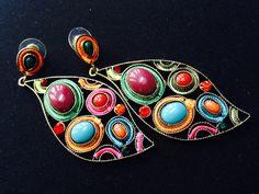 Colorfull dangler earings.