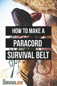 Want to make a paracord survival belt? Paracord is a must have for any prepper or survivalist. Check out this post on how to make a paracord survival belt. Survival Belt, Survival Backpack, Urban Survival, Survival Food, Wilderness Survival, Outdoor Survival, Survival Knife, Survival Prepping, Survival Skills